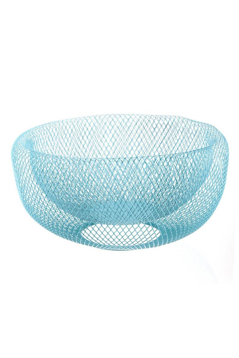Coloured Contemporary Wire Fruit Bowl